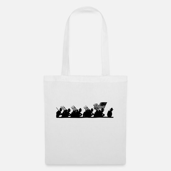 Army Bags & Backpacks - soldiers - Tote Bag white