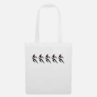 Vector ❤✦Sexy Five Female Sprinters Wearing a Pony tail✦❤ - Tote Bag