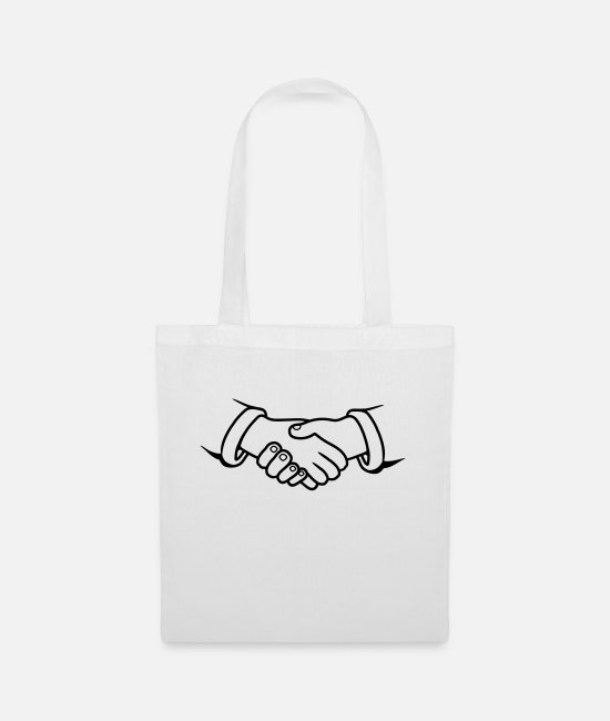 Give Bags & Backpacks - Clipart design handshakes - Tote Bag white
