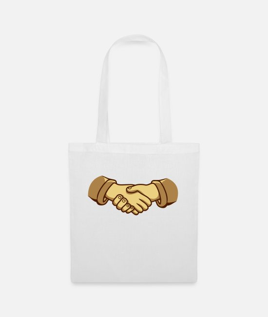 Design Bags & Backpacks - Handshake clipart design - Tote Bag white