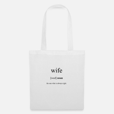 Wife Wife (wife) - Tote Bag
