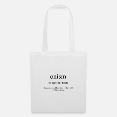 Collection Onism Definition Dictionary - Tote Bag