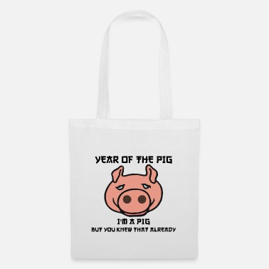 Funny Year Of The Pig I am a Pig - Tote Bag