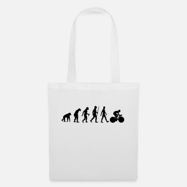 Charles Darwin Evolution bike racing bike cycling driver driving - Tote Bag