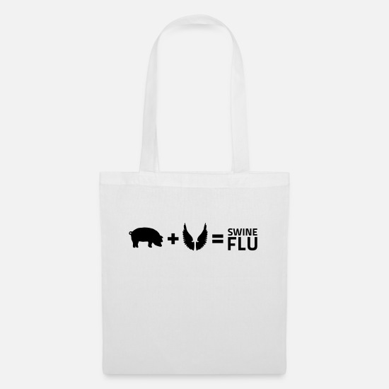 Provocation Bags & Backpacks - The swine flu - Tote Bag white