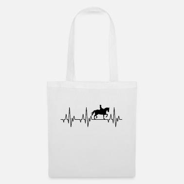 Heartbeat ECG Equitation Equitación Ecuestre Ecuestre deportivo - Bolsa de  tela 24bec27b740