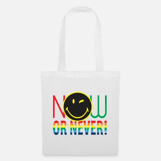 Change Bags & Backpacks - SmileyWorld Now Or Never - Tote Bag white
