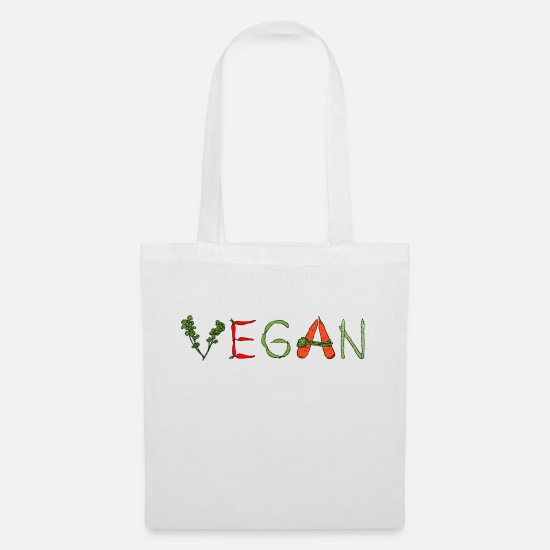 Earth Day Bags & Backpacks - Vegan Veggies - Tote Bag white