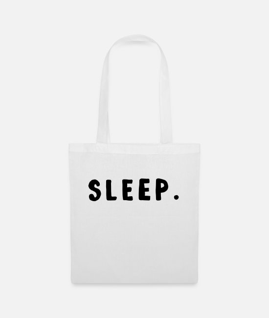 Lazy Bags & Backpacks - SLEEP / sleeping design - Tote Bag white