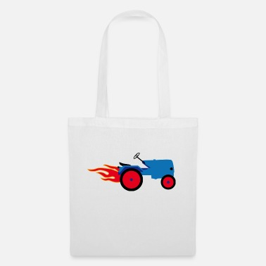 Tractor Towing Tractor blue | Trecker | Towing truck Bulldog builder - Tote Bag