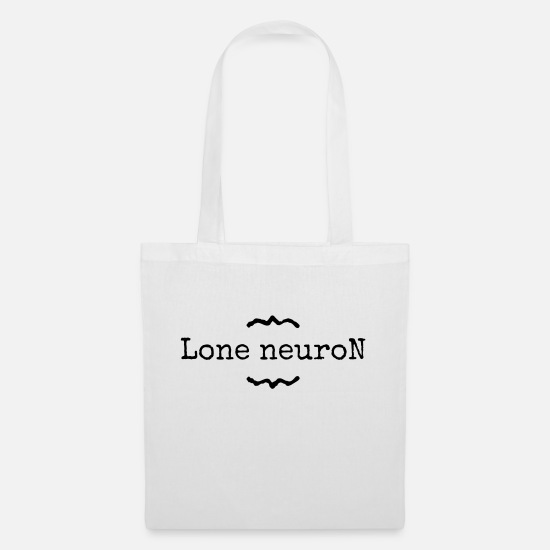 Degree Bags & Backpacks - lone neuron - Tote Bag white