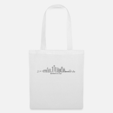 Attractive DETROIT Michigan USA Skyline City - Tote Bag