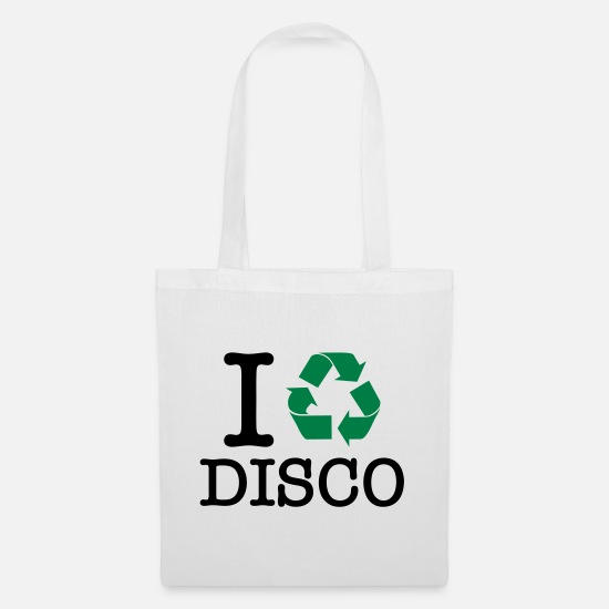 Dj Bags & Backpacks - I Recycle Disco - Tote Bag white