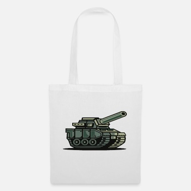Toy Cartoon military tank war zone T-shirt - Tote Bag