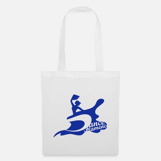 Dancer Bags & Backpacks - A flamenco dancer with fan - Tote Bag white