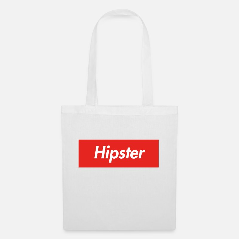 Red Bags & Backpacks - hipster - Tote Bag white