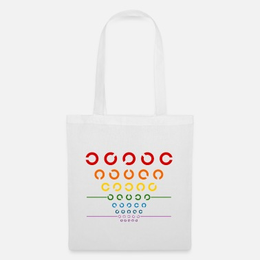 Visual Test Rainbow Visual Test - Tote Bag