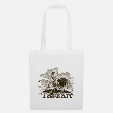 Wolfskind Tarzan and a wild lion - Tote Bag