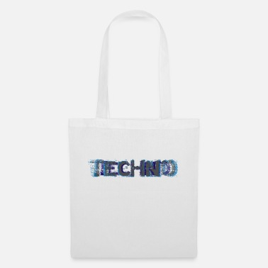 Turntable Techno Glitch I Love Techno - Borsa di stoffa