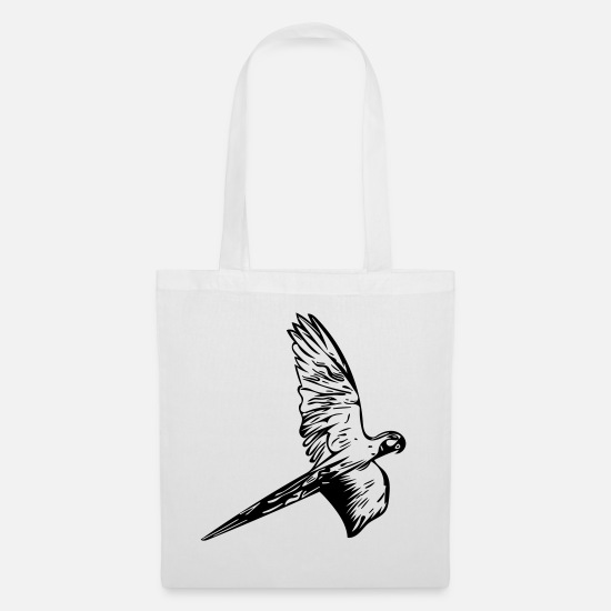 South America Bags & Backpacks - Parrot in flight - Tote Bag white