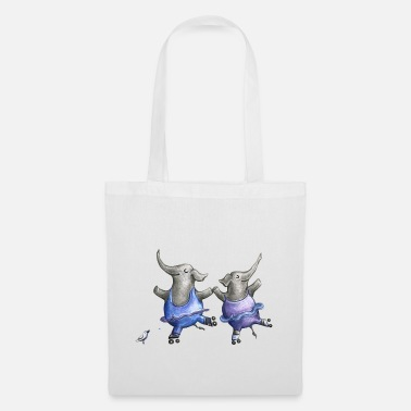 Love Collection Roller skate elephant dance - Sac en tissu
