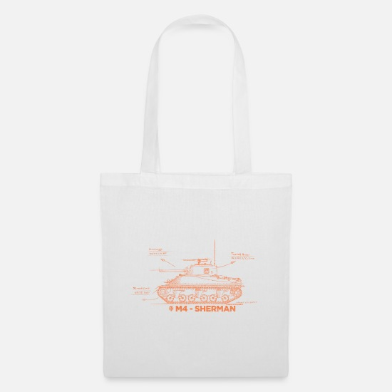 Officialbrands Bags & Backpacks - World of Tanks M4 Sherman - Tote Bag white