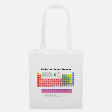 Element Periodic Table of Elements (PTE) dark - Tote Bag
