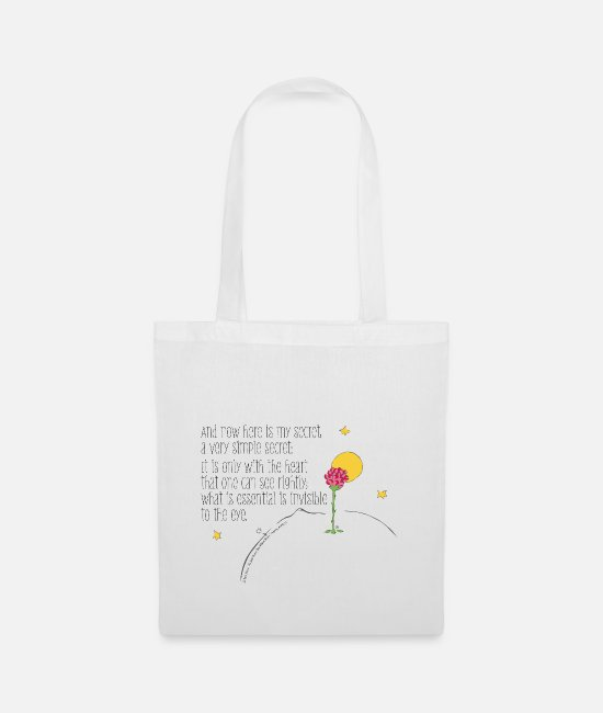 Prince Bags & Backpacks - The Little Prince Quote Heart Sees Rightly - Tote Bag white