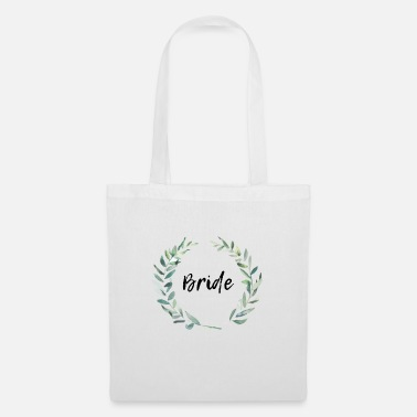 Bride flower wreath - Tote Bag
