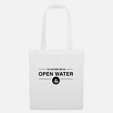 I'd rather be in open water BLACK - Tote Bag