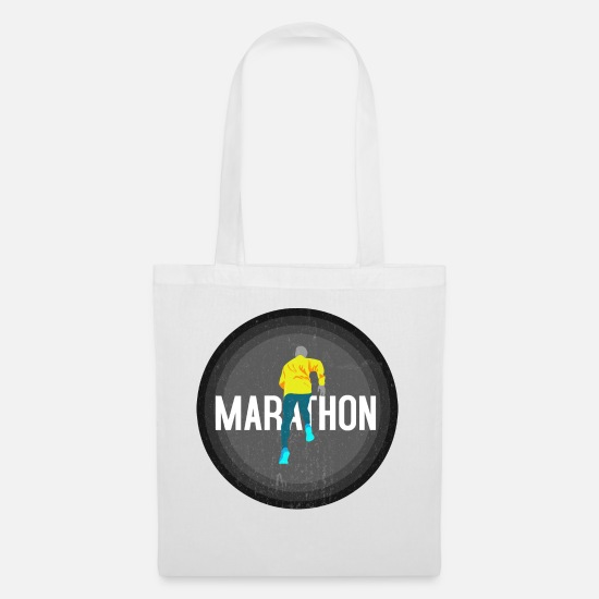 Gift Idea Bags & Backpacks - Marathon runner running marathon jogging gift - Tote Bag white