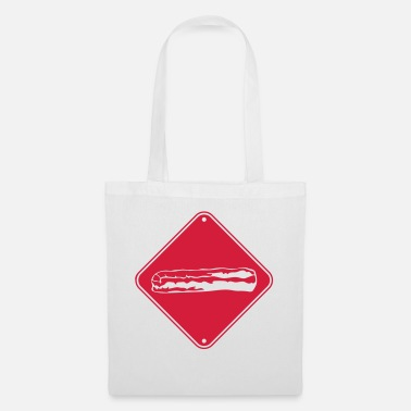 Bacon zone caution signage caution danger bacon ham - Tote Bag