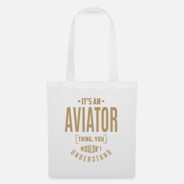 Workspace Aviator - Funny Job and Hobby - Tote Bag