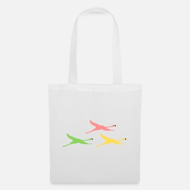 flying flamingos - Tote Bag