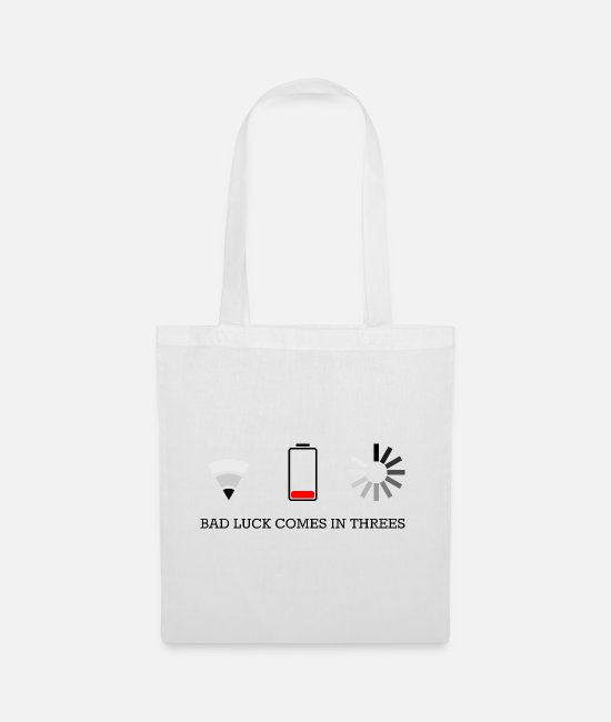 Wireless Bags & Backpacks - triple bad luck - Tote Bag white
