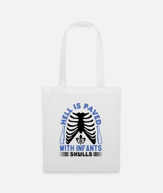 Rebellion Bags & Backpacks - Hell is paved with infant skulls - Tote Bag white