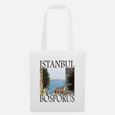 View Istanbul Bosphorus Photography Turkey Boat T-Shirt - Tote Bag