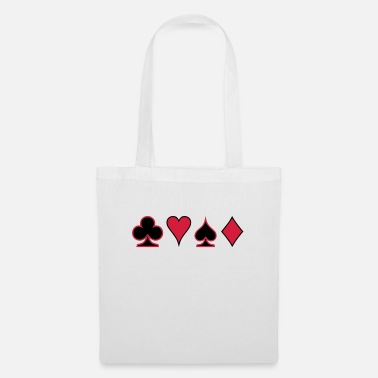 Pokerface Poker Cards Karten Pik Heart Herz Karo - Tote Bag