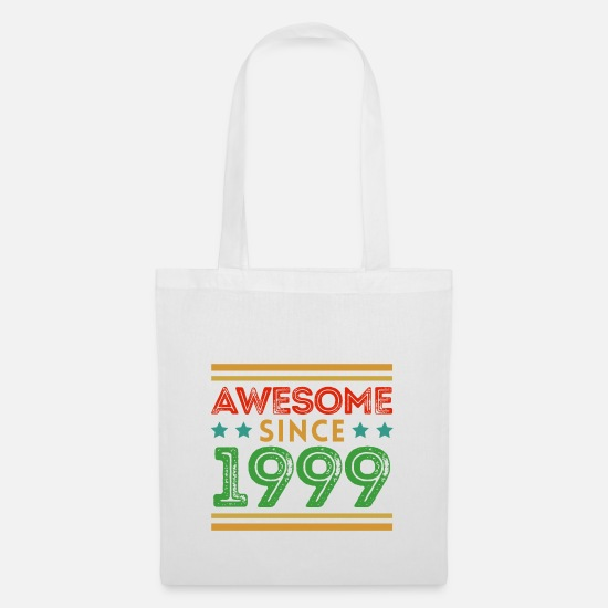 Date Bags & Backpacks - Year 1999 Year of birth Birthday - Tote Bag white