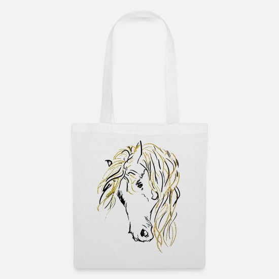 Horse Bags & Backpacks - horse gold | horse gold - Tote Bag white