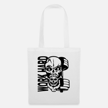 Dead Work hard quote dead head muscle - Tote Bag