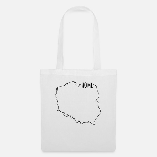 Polen Karte Umriss.Heimat Polen Polska Home Land Karte Stoffbeutel Spreadshirt