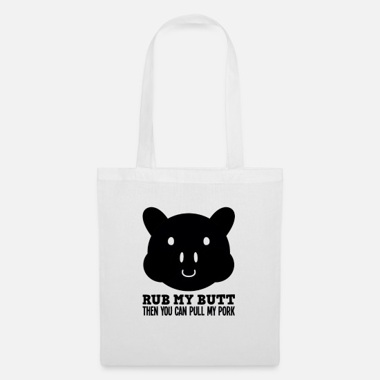 Cool Sayings Bags & Backpacks - BBQ grilling party summer pork - Tote Bag white