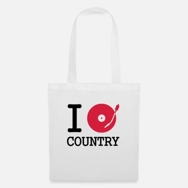 Pays i dj / play / listen to country - Sac en tissu