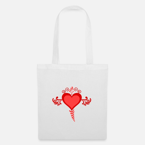 Love Bags & Backpacks - Love heart - Tote Bag white