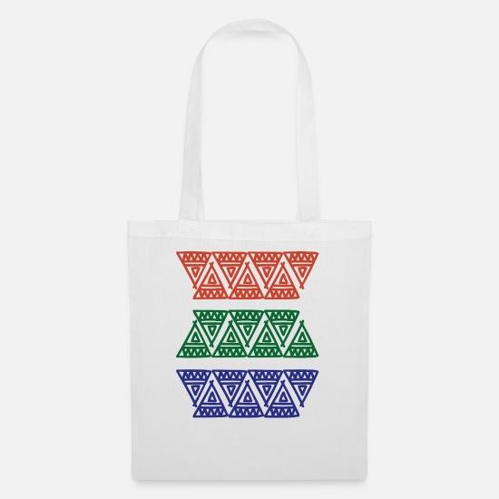 0fdc585e43dc8 Symbol Taschen   Rucksäcke - Maya Zeichen Geschenk Azteken Kunst Kultur  Inka - Stoffbeutel Weiß
