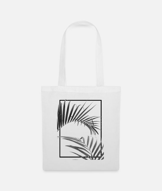 Nature Bags & Backpacks - Palm I (B&W) - Tote Bag white