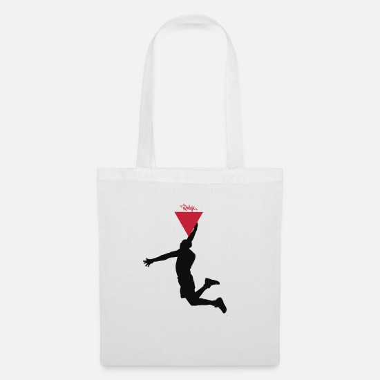 Basketball Bags & Backpacks - Slice Slam - Tote Bag white