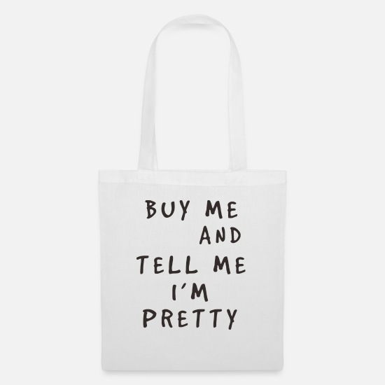 Bombshell Bags & Backpacks - Pizza Pretty Funny Quote Pizza Pretty Funny - Tote Bag white