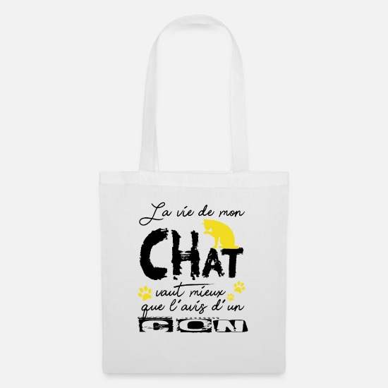 Soft Kitty Bags & Backpacks - Cat Shirt · Domestic Cat · Home Gifts - Tote Bag white